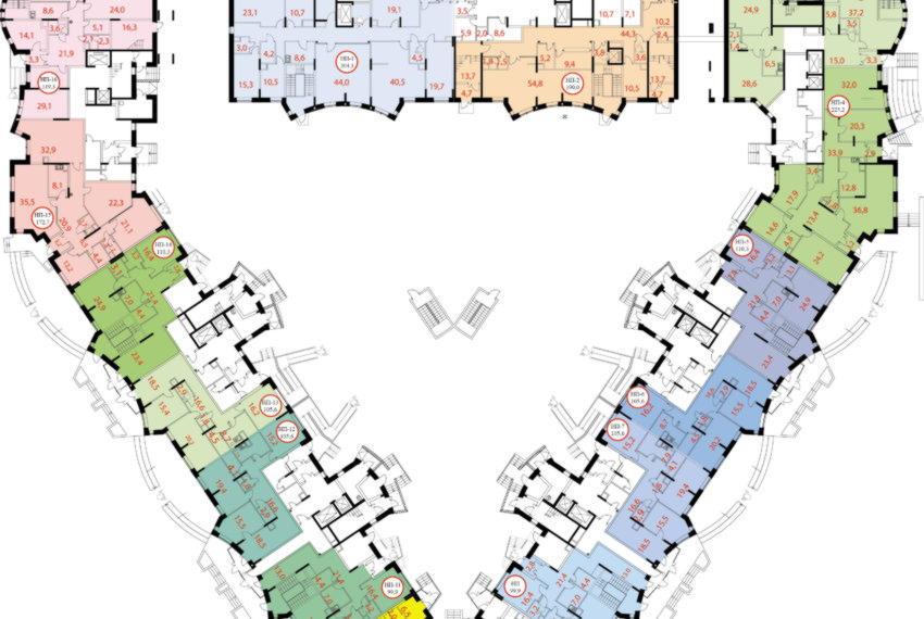 Дом №2-1  план 1-го этажа
