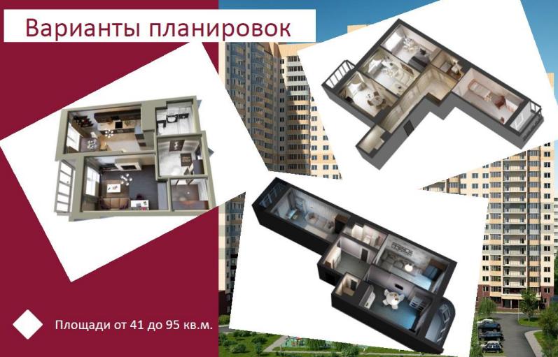 ЖК Новое Измайлово планировка квартир