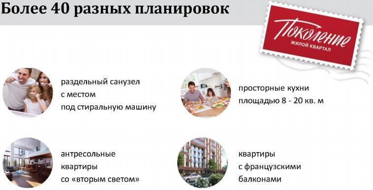 Планировки квартир ЖК Поколение